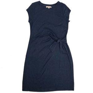 Ann Taylor LOFT Twist Knot Navy Large Midi Dress